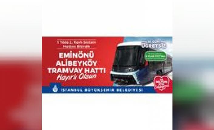 İstanbullulara Yeni Yıl Hediyesi Yeni Tramvay