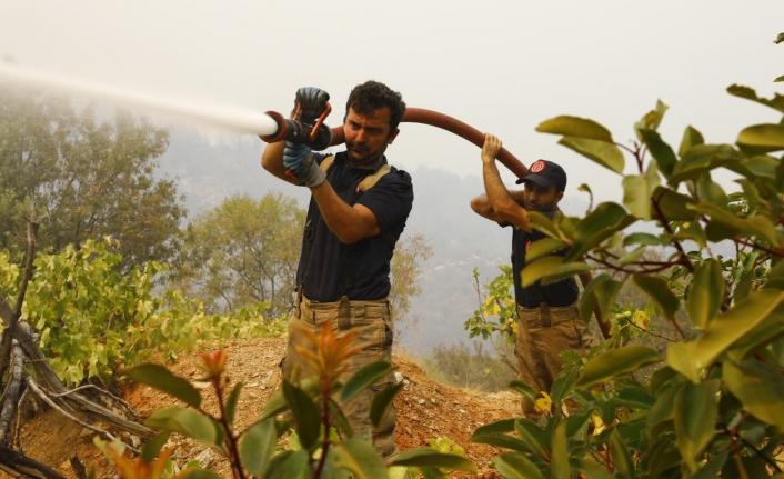 İBB EkipleriTermik Santrali Çevresindeki Yangınlara Müdahale Etti