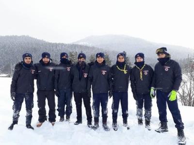Başakşehirli İzciler kış kampında