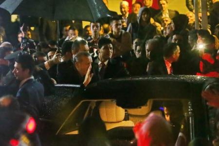 Cumhurbaşkanı başsağlığı için Başakşehir'de