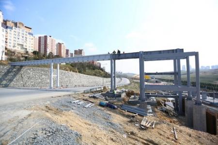 Onurkent Spor Parkı için köprü ve yol çalışması