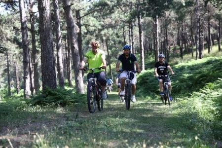 Şamlar Tabiat Parkı bisiklet tutkunlarına açıldı