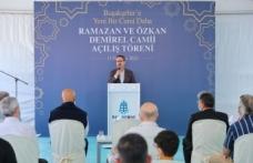 Başakşehir'de Ramazan Ve Özkan Demirel Camii İbadete Açıldı
