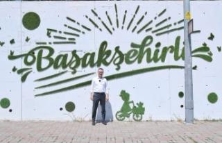 """Başakşehir'de """"Yeşil"""" Duvarlara İşleniyor"""