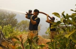İBB EkipleriTermik Santrali Çevresindeki Yangınlara...