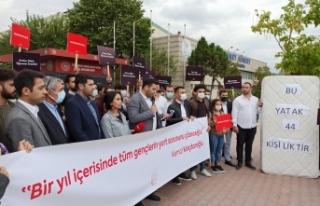 CHP'Lİ Gençler Yurt Sorununa Dikkat Çekmek İçin...