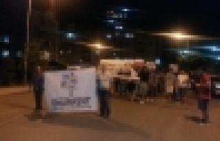 Onurkenet'ten Filistin'e destek İsrail 'e lanet