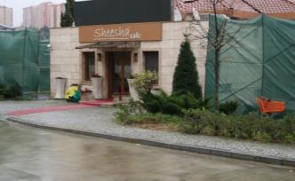 Sheesha Cafe'nin inşaat faaliyeti durdu