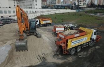 Başakşehir Belediyesi Kar Nöbetine Başladı