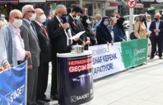 Saadet Partisi:Milletin Derdi Seçim Değil Geçim Dedi