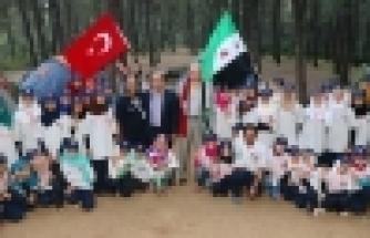 Başkan Uysal, Suriyeli izcilerle buluştu