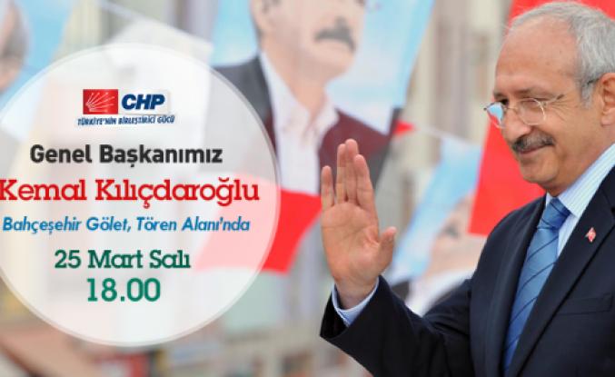 Kılıçdaroğlu Bahçeşehir'de