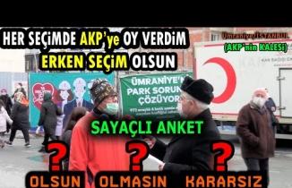 """AKP'nin KALESİNDE """"ERKEN SEÇİM OLSUN MU?"""" diye 90 KİŞİYE SORDUK!! /Ümraniye"""