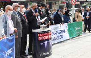 Saadet Partisi:Milletin Derdi Seçim Değil Geçim...