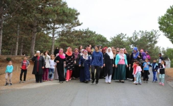 Güvercintepeli kadınlar sağlıklı yaşam için yürüdü